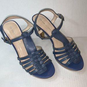 "Franco Sarto ""Martin"" Blue Strappy Sandal Size 8.5"